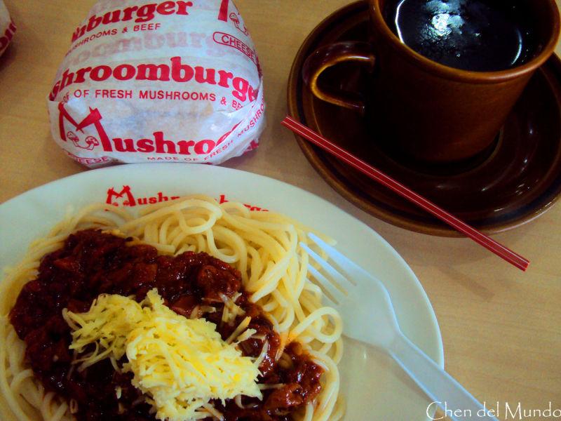 mushroom burger meal