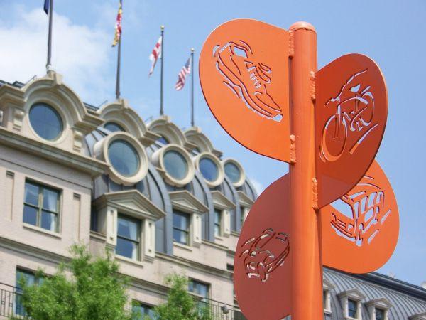 Orange Crossroad in Washington DC
