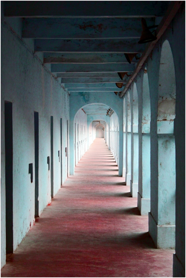 The corridor cellular jail kalapani andaman