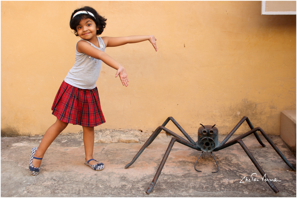 Presenting a spider