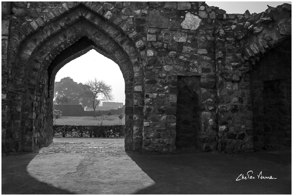A gate at the Feroz Shah Kotla city ruins