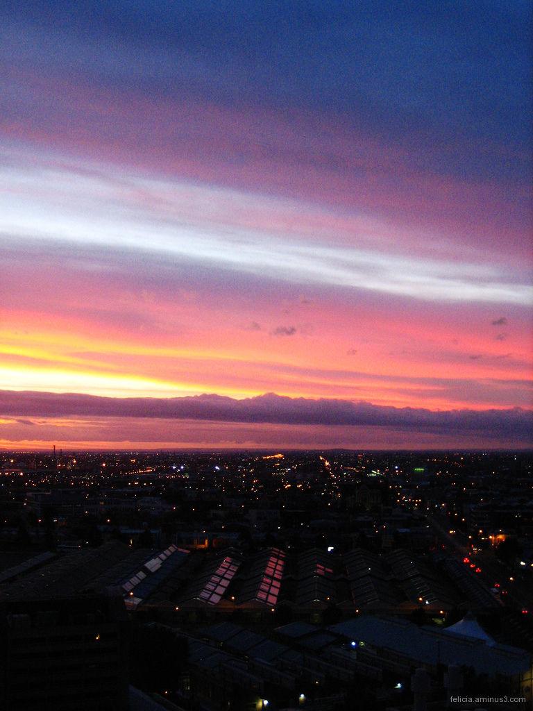 Sunset at Melbourne