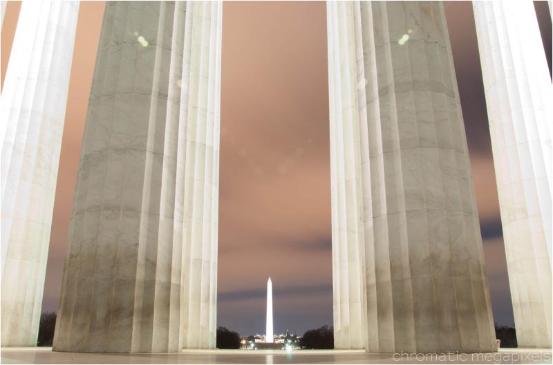 washington monument at midnight