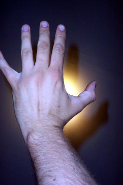 a photograph of my hand