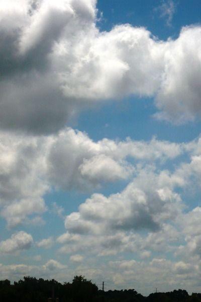 A photograph of a Chicago sky.