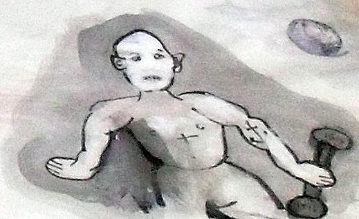 A photograph of a doodle.
