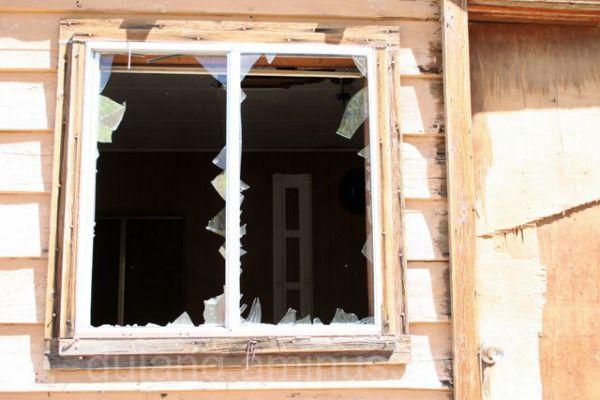 Broken window-Mojave Desert
