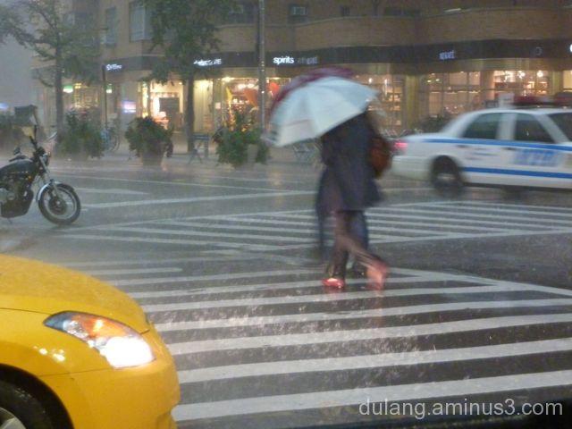 NYC rainstorm