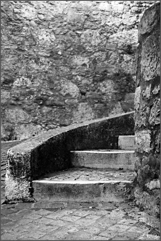 Escalera de subida Castillo de San Jorge en Lisboa