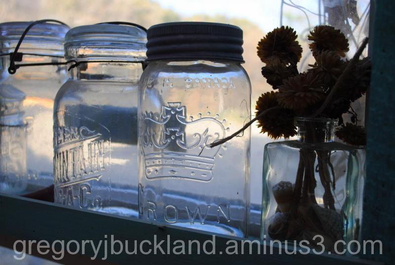 Bottles on the sill...still