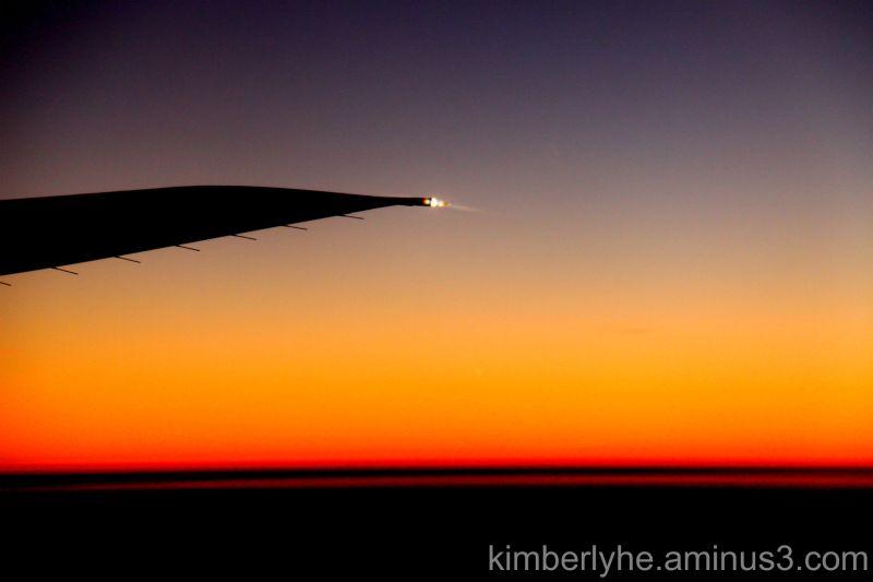 Sunset on Plane.