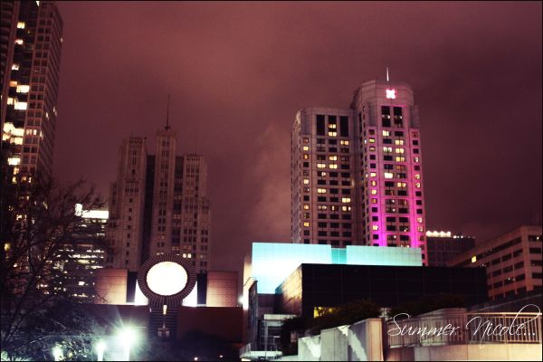 city, san francisco, california, night, buildings