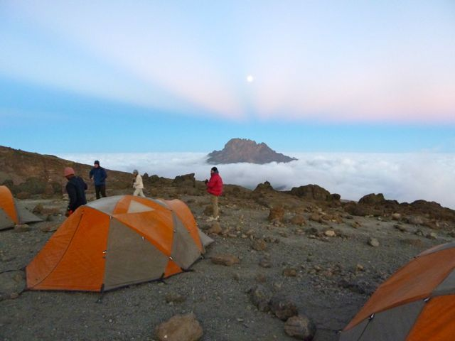 Mawenzi Peak from Crossover Camp