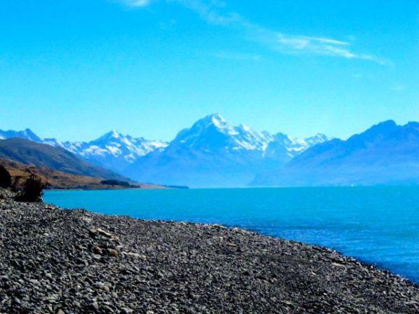 Mount Cook From Lake Punakaki