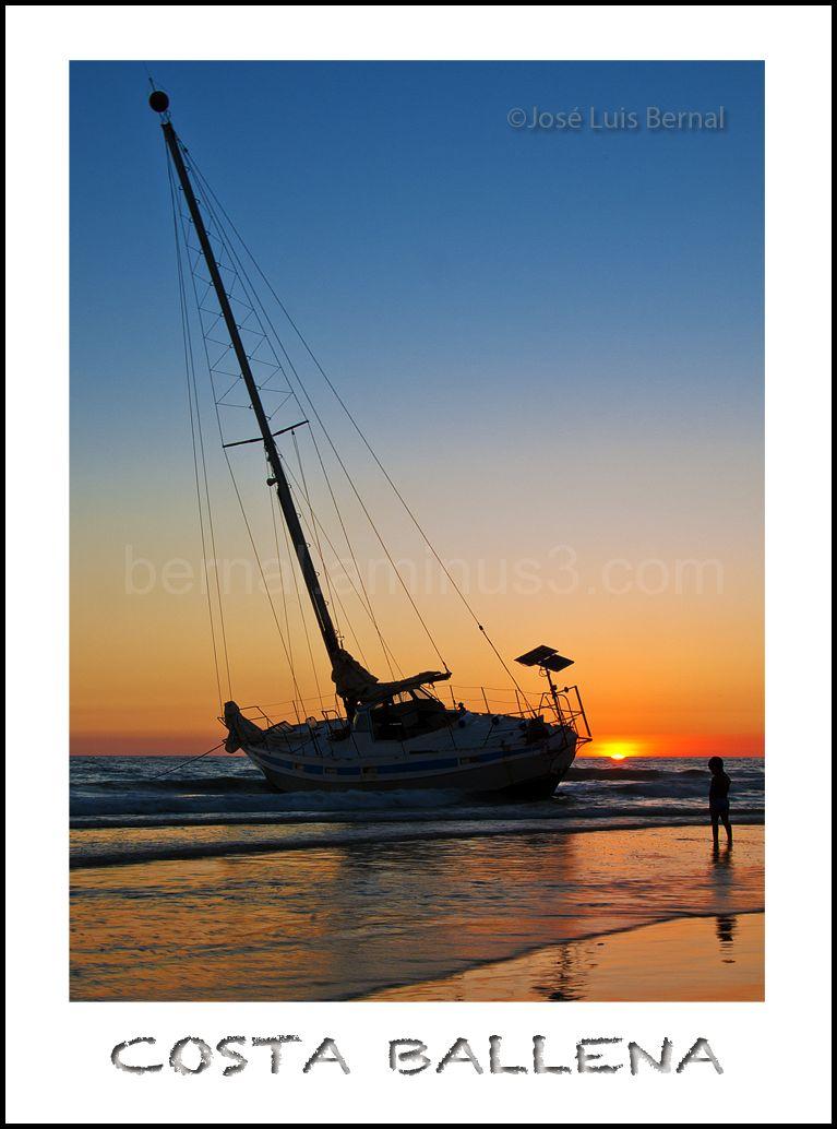atardecer,playa,velero