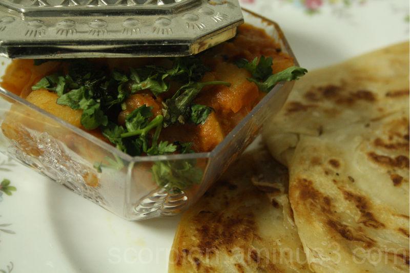 Paratha & Potato Curry