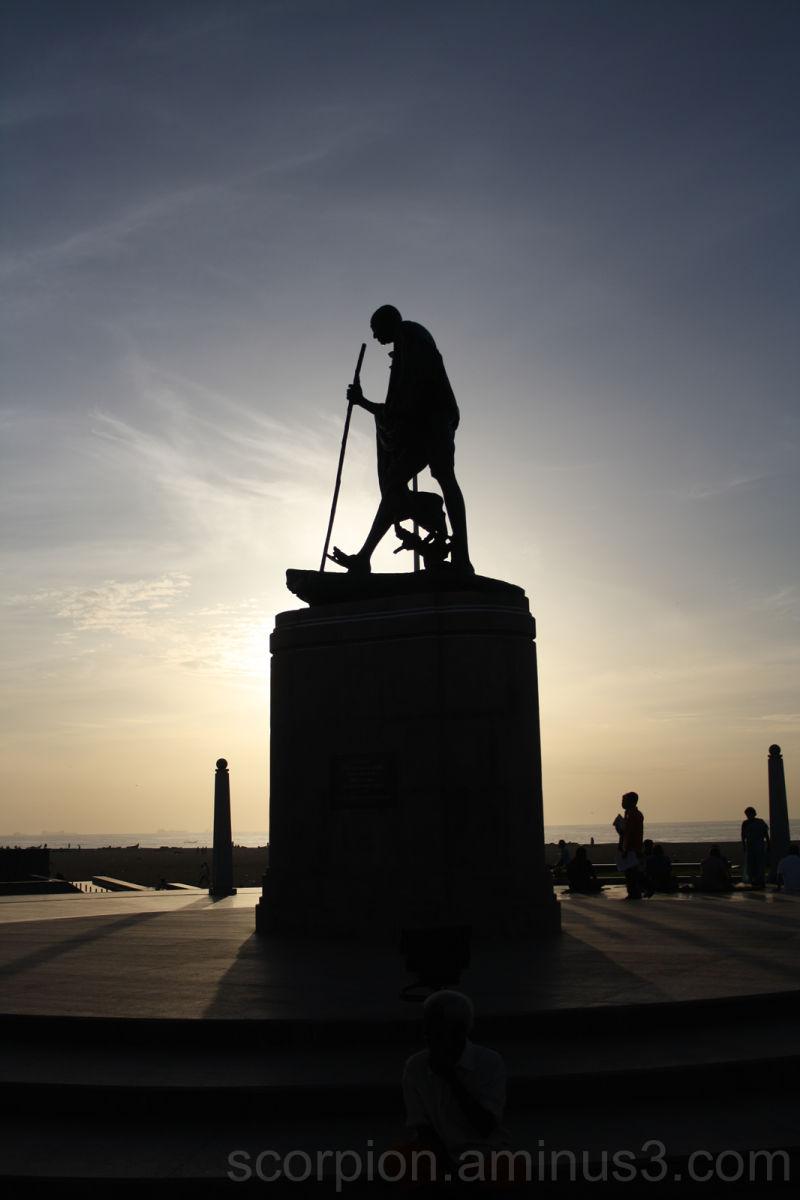 Popular Landmark..Gandhi Statue @  Marina, Chennai