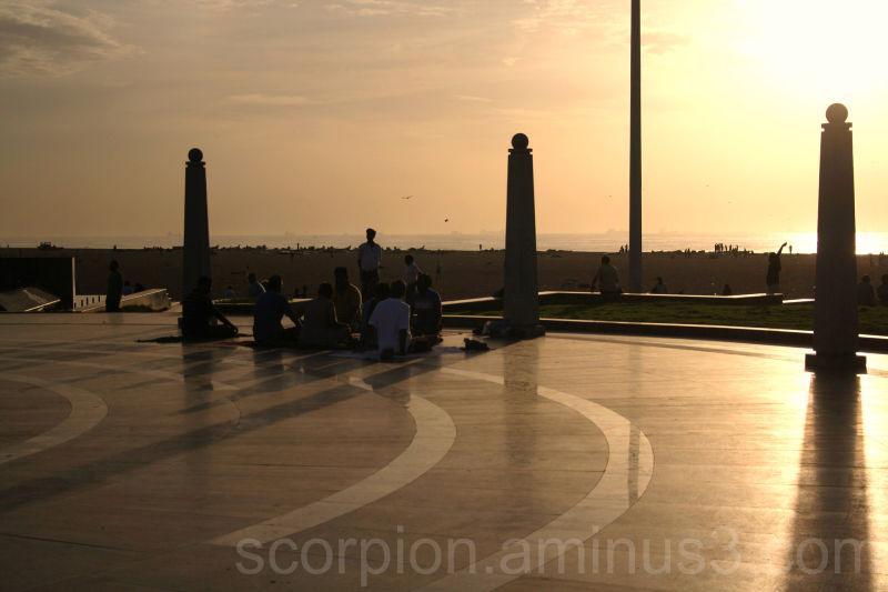 Yoga at sunrise @ Marina Beach, Chennai