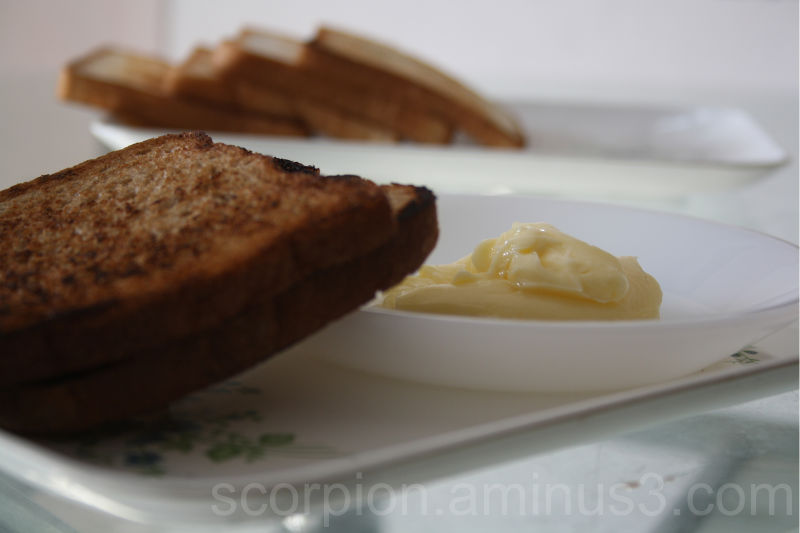 Temptations....to butter or not butter the toast ?
