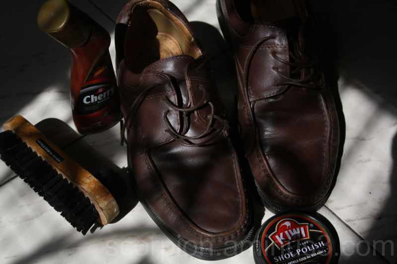 The next ritual...lets get the footwear ready...