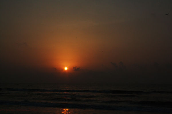 Sunrise at Marina Beach, Chennai