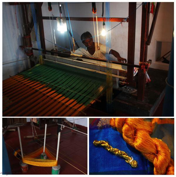 Handloom Weaver of Indian Silk Sarees...