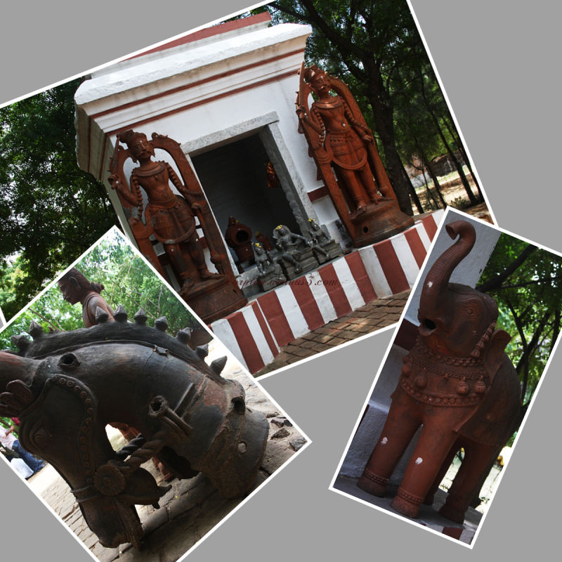 Idols at Ayyanar Temple