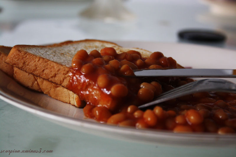 Baked beans and Toast ...
