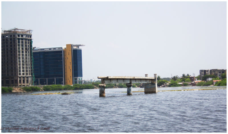 Broken Bridge , Adyar, Chennai ..during Monsoon