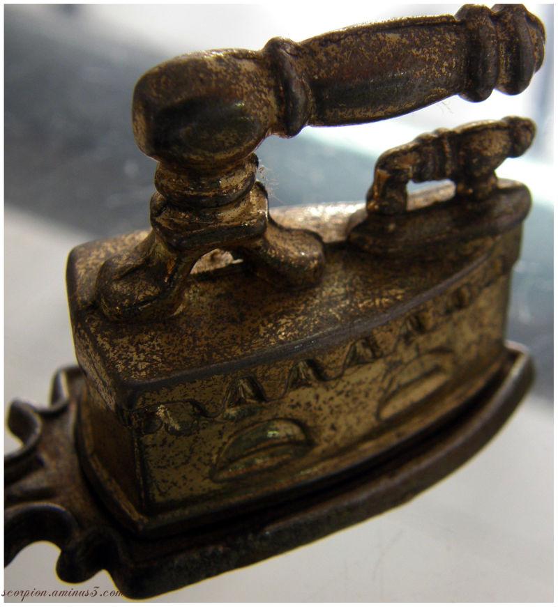 "Miniature ""Coal"" Iron Box"