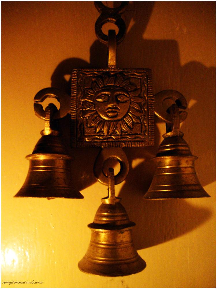 Sun God with Brass Bells..