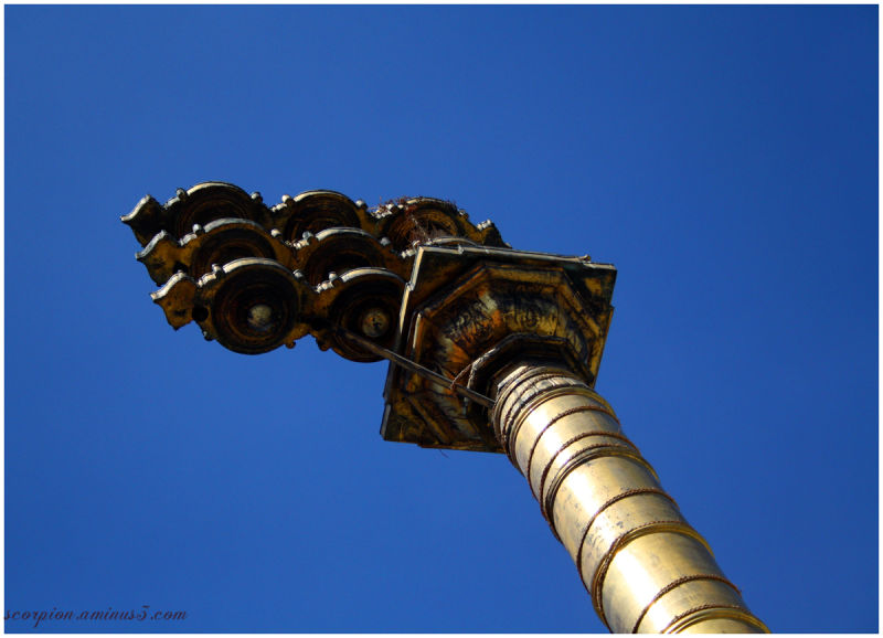 The Dhwajastambha (Flag pole), Mylapore Temple...