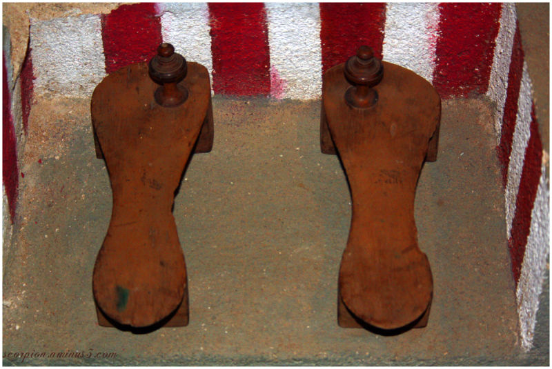 "Wooden Clogs worn by ancient Indian ""Sadhus"""