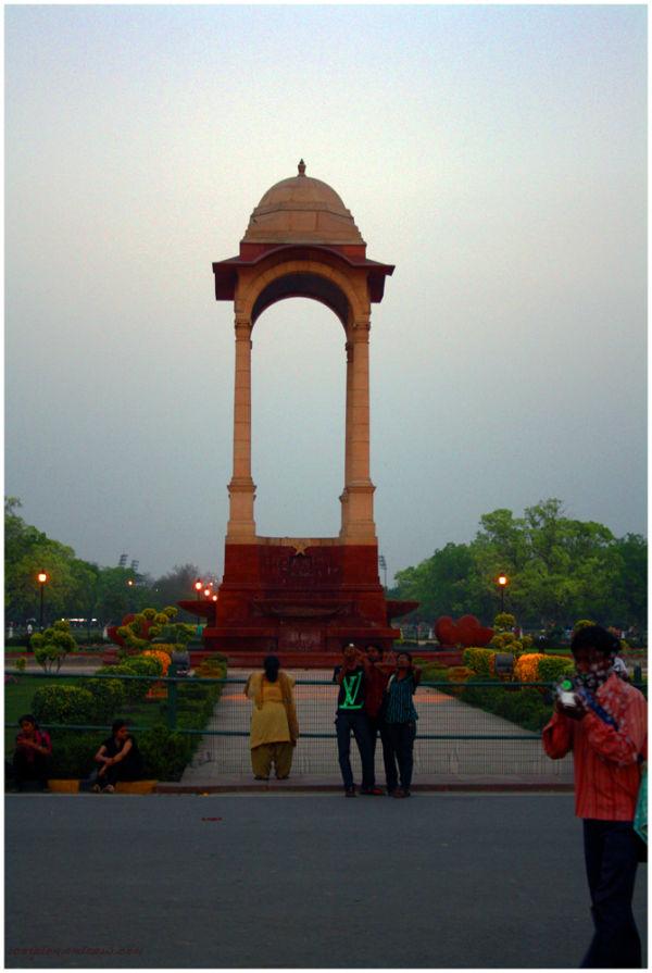 Empty Canopy behind India Gate, New Delhi.