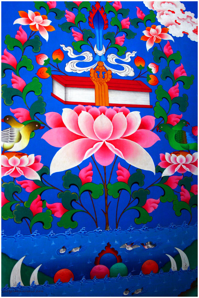 Lotus Mural @ Nyingmapa Buddhist Temple, Manali...