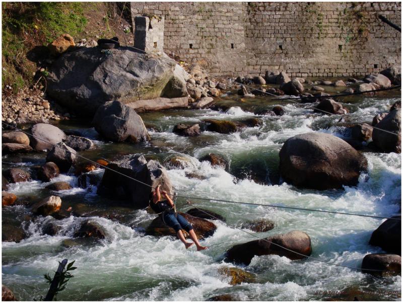 River Crossing, Himachal Pradesh...
