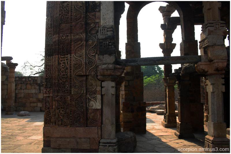 Ruins inside Qutub Complex