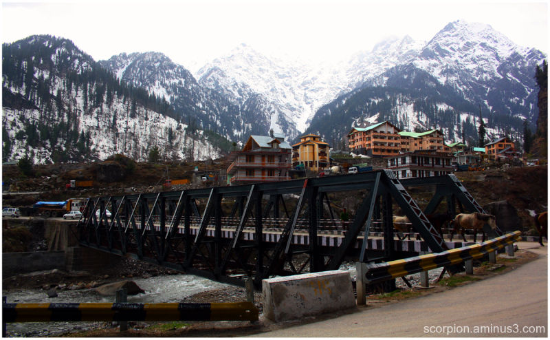 Bridge across River Beas, Himachal Pradesh...