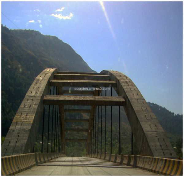 A bridge in Himachal Pradesh...