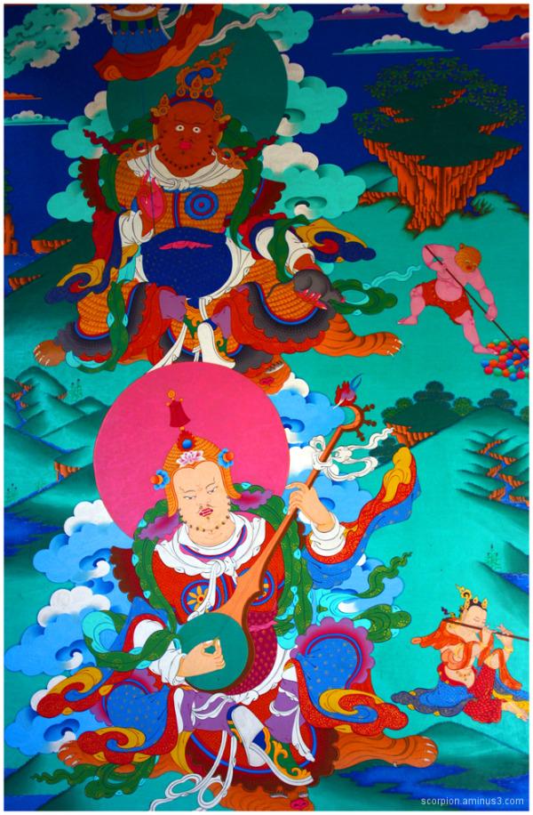 Mural @ Nyingmapa Buddhist Temple, Manali...