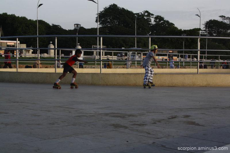Skating @ the Marina, Chennai...