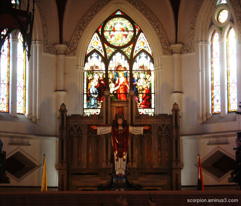 Inside the Santhome Church, Chennai