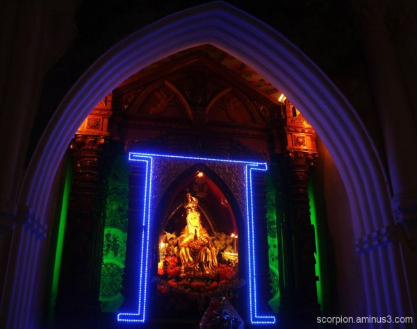 Virgin Mary @ the Santhome Cathederal, Chennai...