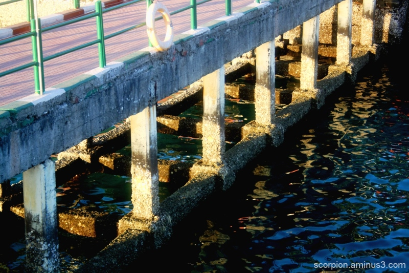 Pier at Ross Islands, Andamans