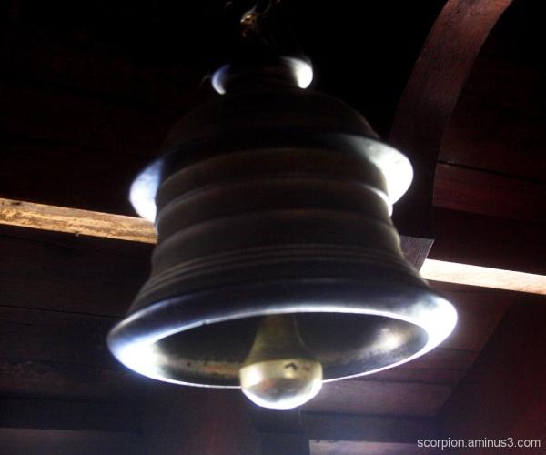 Bell in Bagamandala temple, Coorg