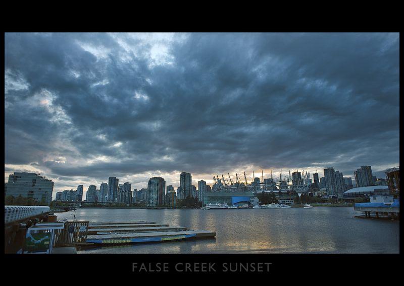 False Creak sunset