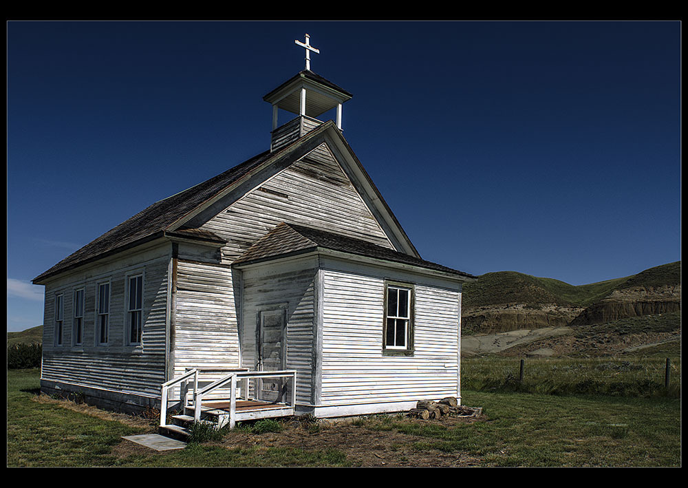 Dorothy ghost town Alberta church