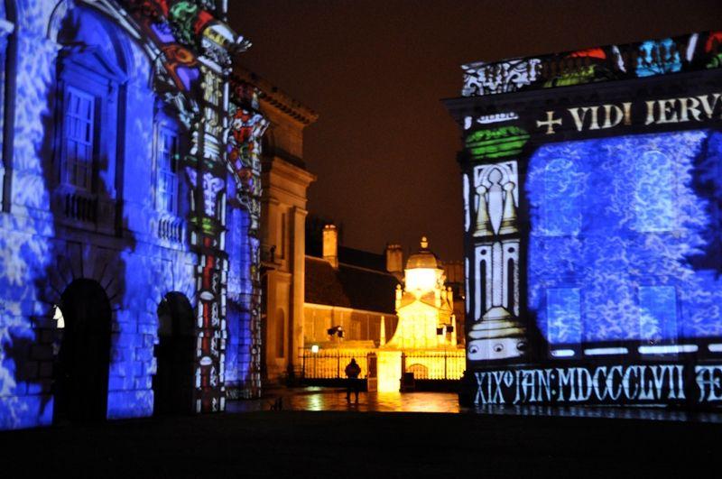 University of Cambridge 800 yr light show