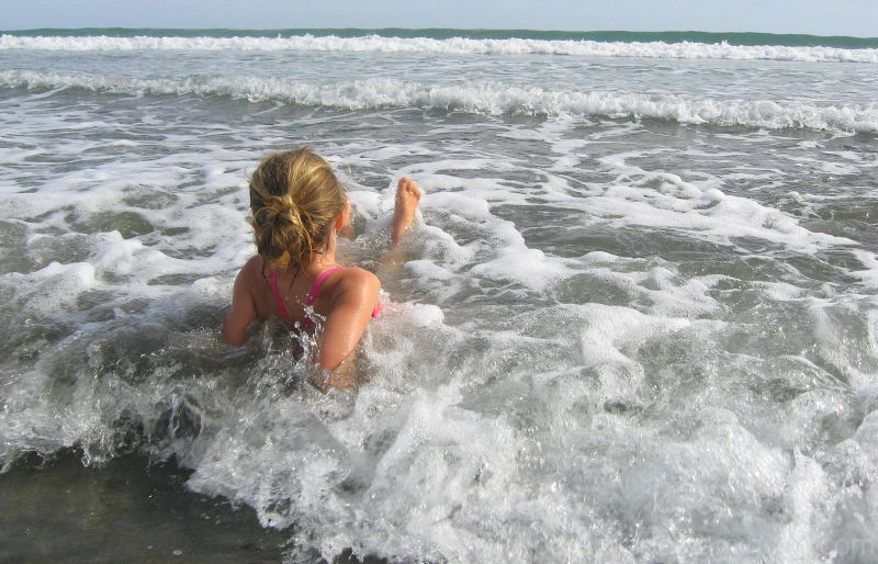 maddi enjoying a great day at the beach in NZ