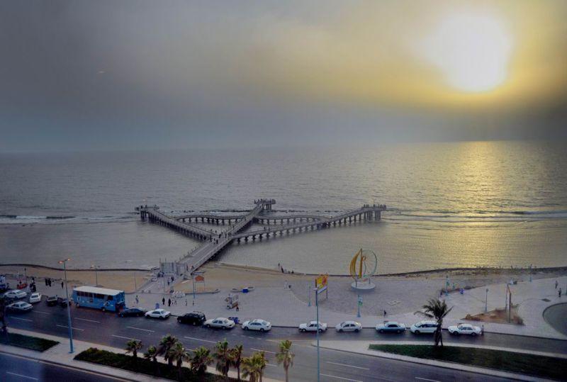 Jeddah Corniche sea view port